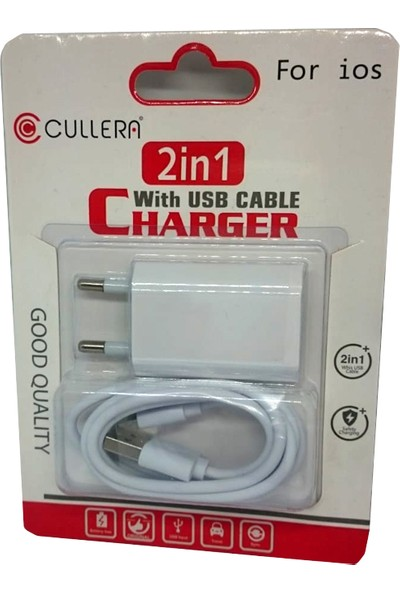 Cullera 2in1 Charger For Ios - Şarj Aleti
