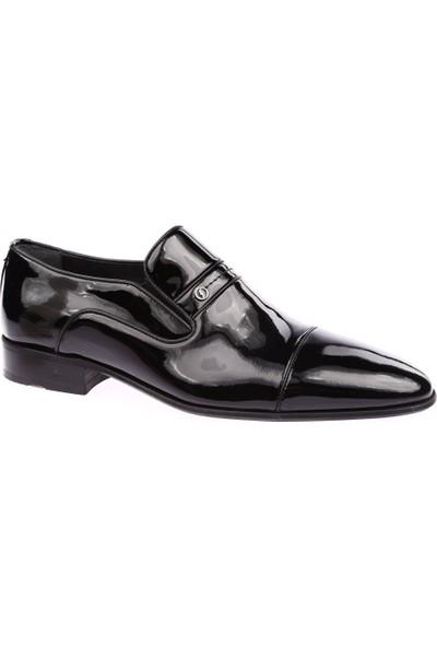 Fosco 9517 Erkek Neolit Taban Klasik Ayakkabı Siyah Rugan Siyah