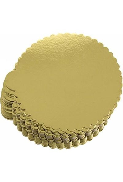 Pasta Altlığı Gold Mendi̇l 11 cm Turta Kalin 50 Adet