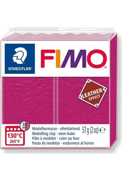 Staedtler Fimo Leather Effect Modelleme Kili 57Gr - Berry