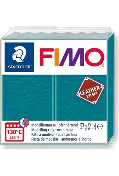 Staedtler Fimo Leather Effect Modelleme Kili 57Gr - Lagoon