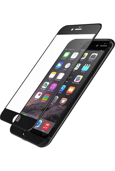 Twinix Apple iPhone 8 Plus 5D Ekran Koruyucu Cam 4 Katmanlı Siyah