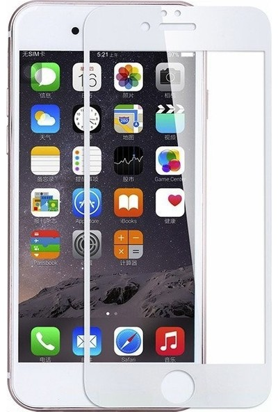Twinix Apple iPhone 8 5D Ekran Koruyucu Cam 4 Katmanlı Beyaz