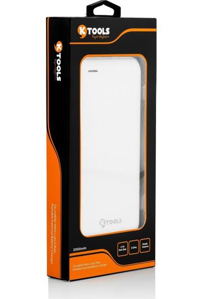 Ktools Comfort 13000 Mah 2 USB Beyaz Powerbank Çift USB Girişi