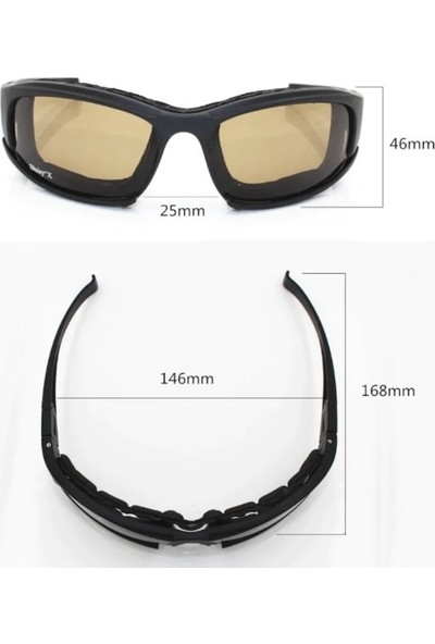 Daisy X7 UV400 Polarize Değişebilir 4 Lensli Motorsiklet Gözlüğü