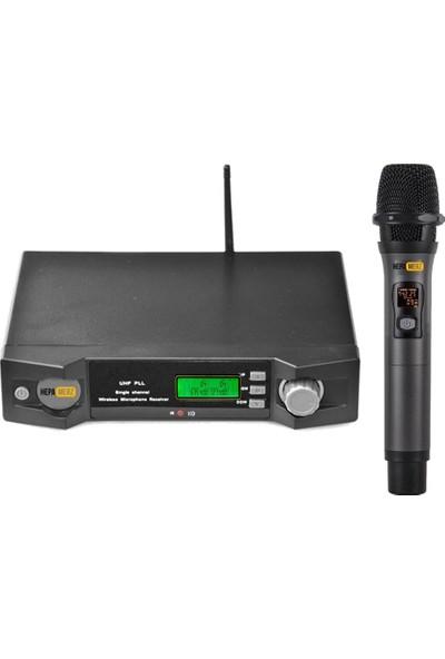 Hepa Merz Hm-8001E Dijital Uhf Telsiz Kablosuz El Mikrofon
