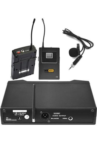 Hepa Merz Hm-8001Y Dijital Uhf Telsiz Kablosuz Yaka Mikrofonu 150 Mt Çekim