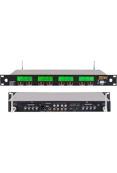 Hepa Merz Hm-8008Y Dijital 8'Li Telsiz Kablosuz Yaka Mikrofonu Seti