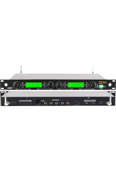 Hepa Merz Hm-8004Ym 4'Lü Kablosuz Yaka Ve Masa Kürsü Mikrofonu Seti
