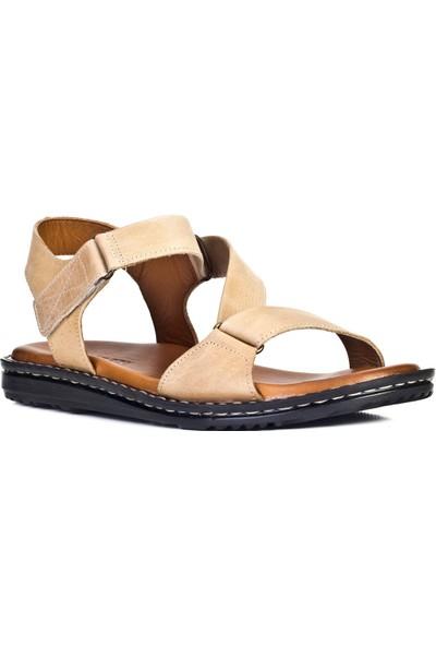 Cabani Günlük Sandalet Bej Deri
