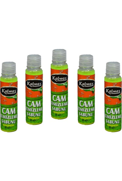 Kalwax Cam Temizleme Sabunu 5'Li Paket