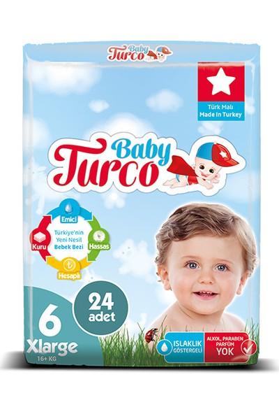 Baby Turco Bebek Bezi 6 Beden X Large 120' li 16+kg