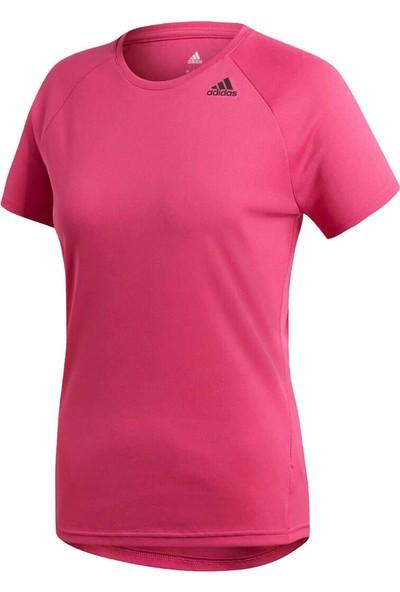 Adidas D2M Tee Lose Reama Pembe Kadın Kısa Kol T-Shirt