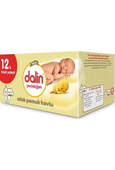Dalin Yenidoğan Islak Havlu 12 x 40 Adet Kutulu