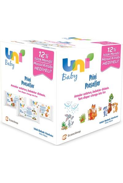 Uni Baby Mini Masallar Islak Mendil 12 x 52 Adet