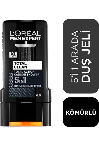 L'Oréal Paris Men Expert Total Clean 5'İ 1 Arada Kömürlü Duş Jeli 300 Ml