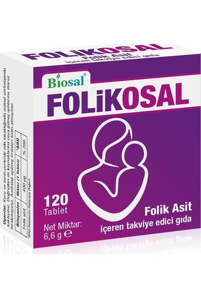 Folik Asit 400 Mcg 120 Tablet Biosal Folikosal