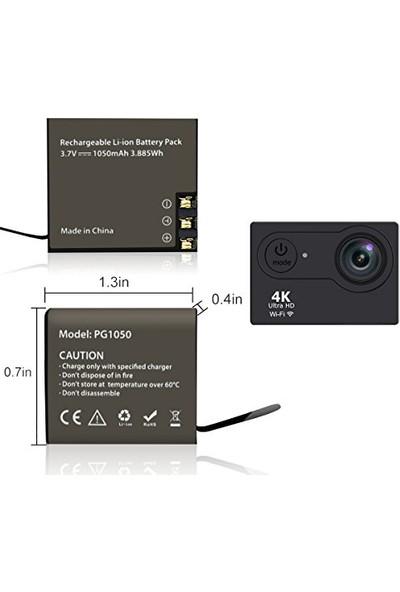 Aksiyon Kamera H9 H9R W9 Sjcam Yedek Batarya 3.7V 1050 Mah