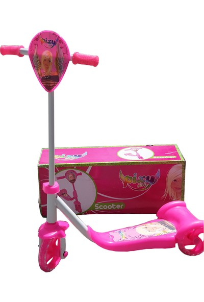 Happy Toys Girs Silikon Tekerli Frenli Scooter