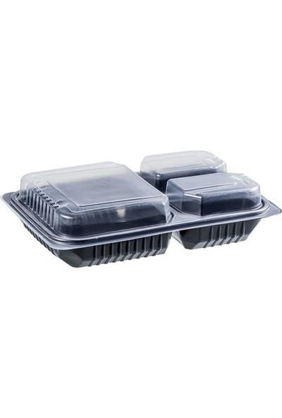 Folyo Term Üç Bölmeli Gıda Kabı - 200' lü