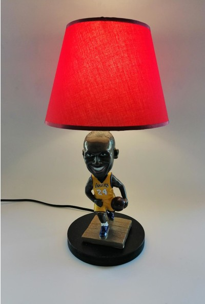 Hediye Fikri Dekoratif Basketbolcu Kobe Bryant Tasarımlı Abajur
