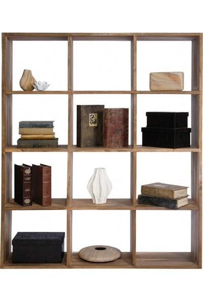 Tarz Kolonisi Otantik Kare Kitaplık