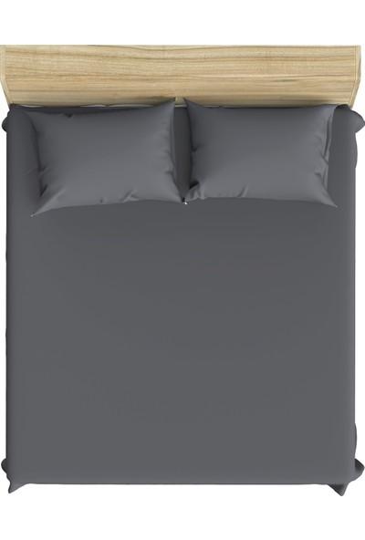 Hepsi Home Florence Tek Kişilik Lastikli Çarşaf - Gri 100 x 200 cm