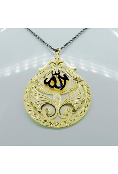 Amelya Gold Adhnr245 Osmanlı Motifli Allah Lafzı Kolye