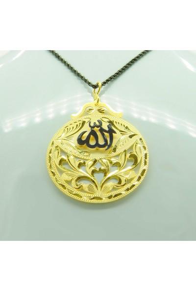 Amelya Gold Jmprvx59 Osmanlı Motifli Allah Lafzı Kolye