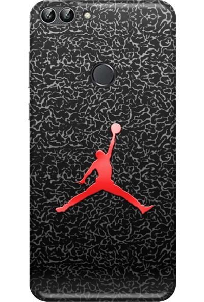 Svart Case Huawei PSMART2018 Air Jordan Eski Bar Silikon Telefon Kılıfı