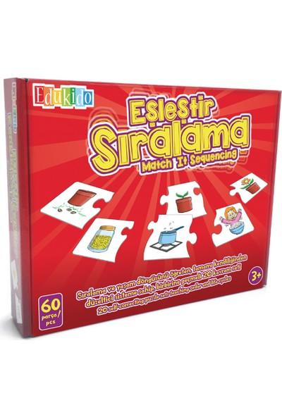 Edukido Eğitici Oyuncak Eşleştir Mukavva Puzzle Sıralama EDU-1013