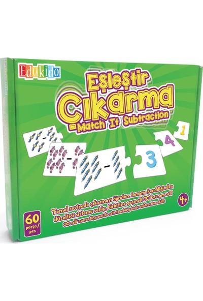 Edukido Eğitici Oyuncak Eşleştir Mukavva Puzzle Çıkarma EDU-1005