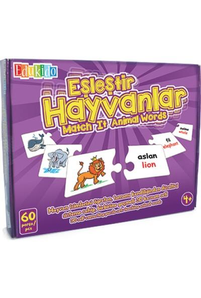Edukido Eğitici Oyuncak Eşleştir Mukavva Puzzle Hayvanlar EDU-1009