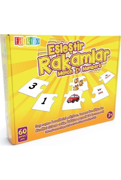 EdukidoEğitici Oyuncak Eşleştir Mukavva Puzzle Rakamlar EDU-1006