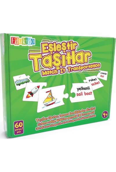 Edukido Eğitici Oyuncak Eşleştir Mukavva Puzzle Taşıtlar EDU-1010