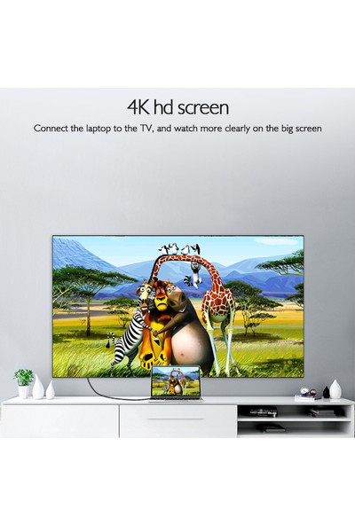 Basix D2 Mini DP To HDMI Dönüştürücü - Beyaz