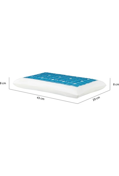 Visco Foam Hava Kanallı Jelli Visco Bebek Yastığı