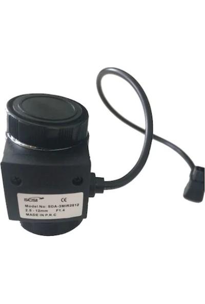 Scsi SDA-3MIR2812 Oto İris 3 Mp Lens