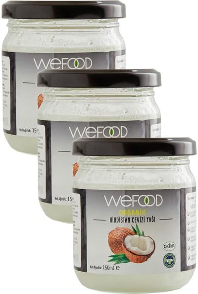 Wefood Organik Hindistan Cevizi Yağı 150 ml - 3'lü