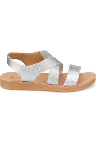 Polaris 91.150787Pz Gümüş Kadın Sandalet