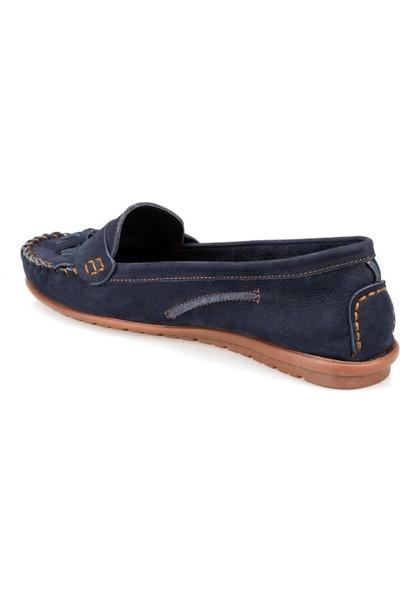 Polaris 91.100772Nz Lacivert Kadın Deri Ayakkabı