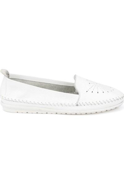 Polaris 91.100773.Z Beyaz Kadın Deri Ayakkabı