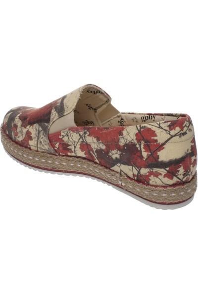 Goby 180039 Sofia Desing Slip On Kırmızı Kadın Spor Ayakkabı