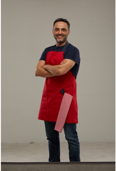 Arda'Nın Mutfağı Şef Önlüğü Kırmızı