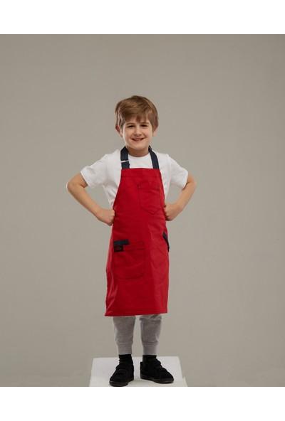 Arda'Nın Mutfağı Çocuk Şef Önlüğü Kırmızı