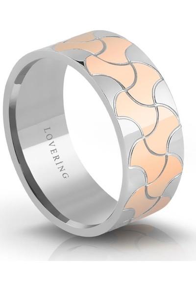 Lovering Lvr330B Kadın Çelik Yüzük 10