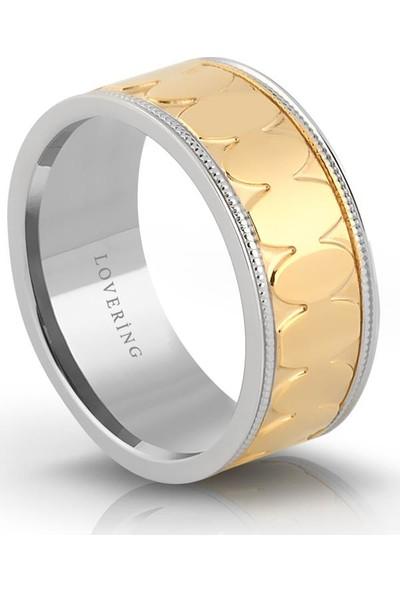 Lovering Lvr331B Kadın Çelik Yüzük 10