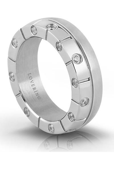 Lovering Lvr421B Kadın Çelik Yüzük 10