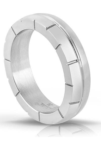 Lovering Lvr421E Erkek Çelik Yüzük 18E
