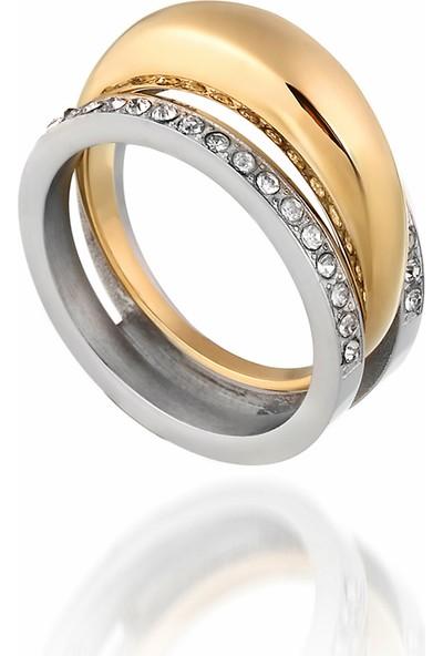 Lovering Lvr510E Gold Kadın Çelik Yüzük 10